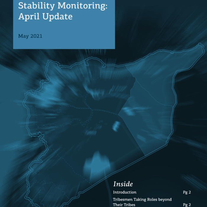 Northeast Syria Social Tensions and Stability Monitoring: April Update