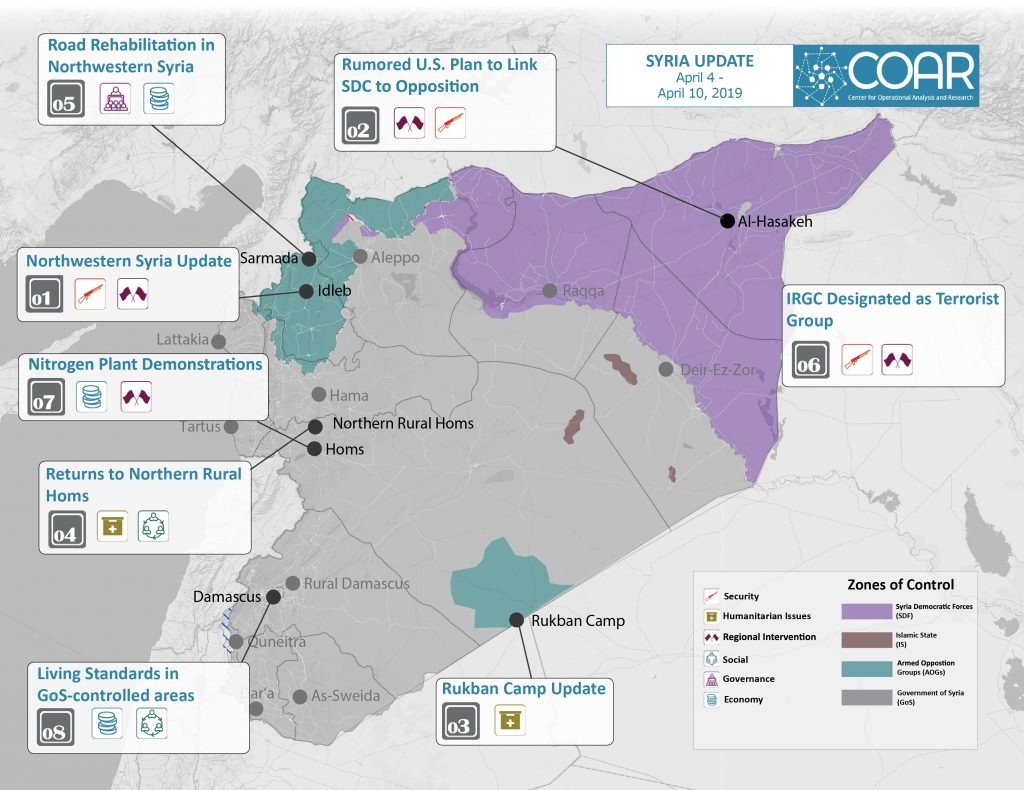 2019April 4-10 COAR Syria Update Map