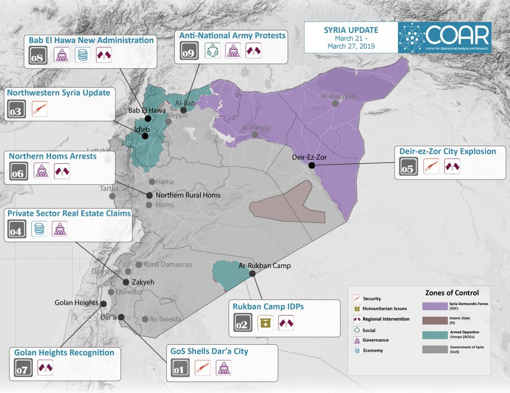 2019Mar 21-27 COAR Syria Update Map