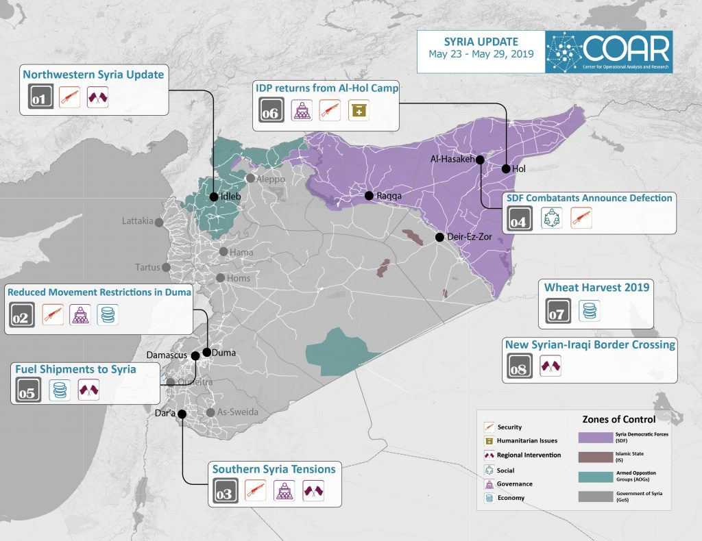 2019May 23-29 COAR Syria Update Map