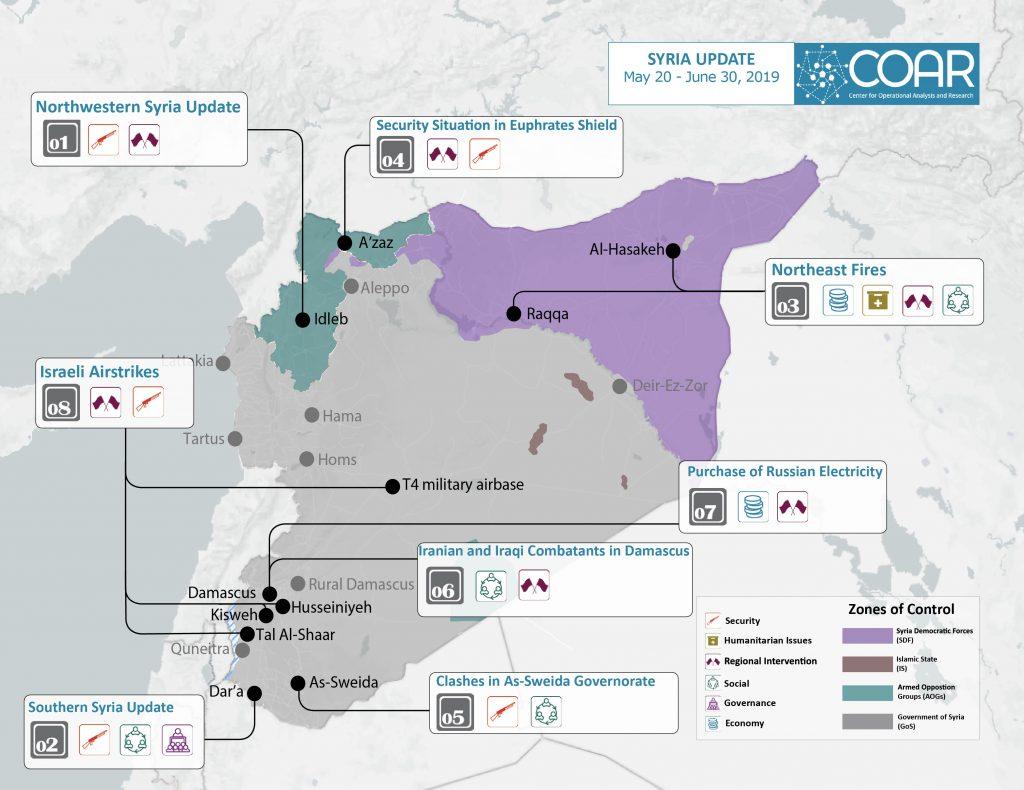 COAR Syria Update May 30-June 12 Map